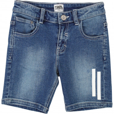 Denim bermuda shorts KARL LAGERFELD KIDS for BOY