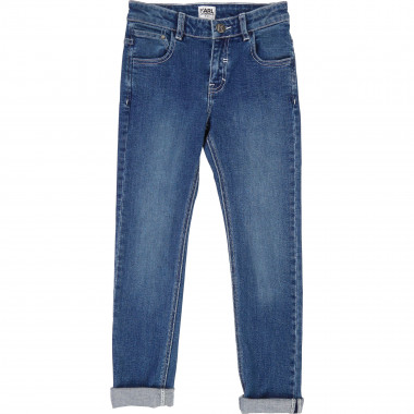 Slim-fit denim trousers KARL LAGERFELD KIDS for BOY