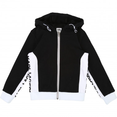 Fleece jogging cardigan KARL LAGERFELD KIDS for BOY