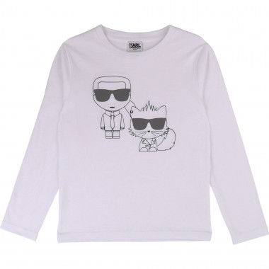 Long-sleeved T-shirt KARL LAGERFELD KIDS for BOY
