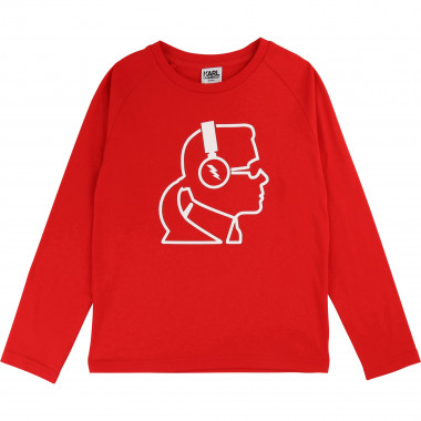 Long-sleeved printed T-shirt KARL LAGERFELD KIDS for BOY
