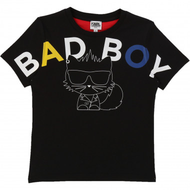 Illustrated cotton T-shirt KARL LAGERFELD KIDS for BOY