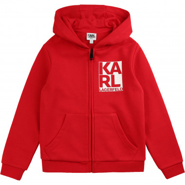 Zipped jogging cardigan KARL LAGERFELD KIDS for BOY