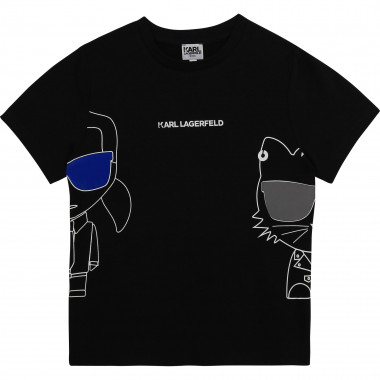 Organic cotton T-shirt KARL LAGERFELD KIDS for BOY