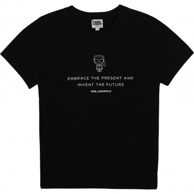Cotton message T-shirt KARL LAGERFELD KIDS for BOY