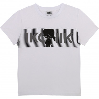 Printed T-shirt with logo KARL LAGERFELD KIDS for BOY