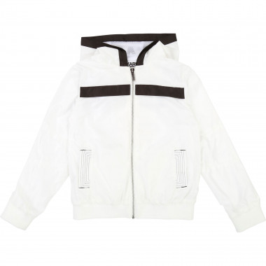 Novelty hooded jacket KARL LAGERFELD KIDS for BOY