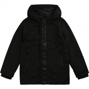 Zipped hooded coated parka KARL LAGERFELD KIDS for BOY