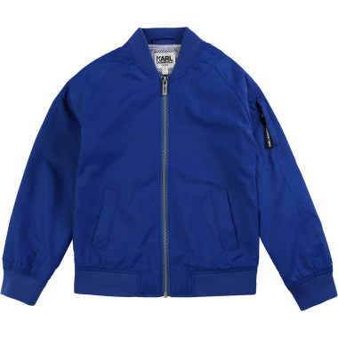 Bomber jacket with logo KARL LAGERFELD KIDS for BOY