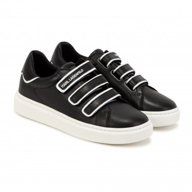Low-top leather trainers KARL LAGERFELD KIDS for BOY