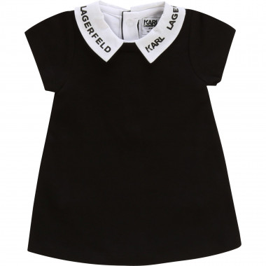 Flared dress with collar KARL LAGERFELD KIDS for UNISEX