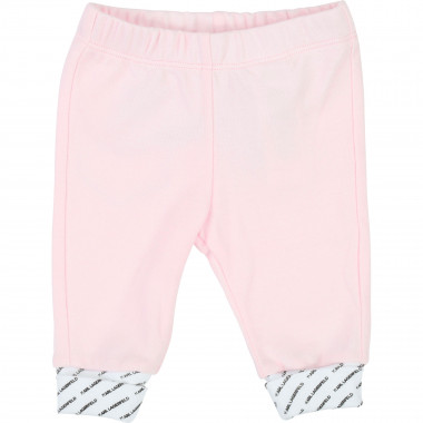 Cotton interlock trousers KARL LAGERFELD KIDS for UNISEX