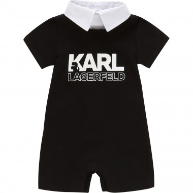Short cotton playsuit KARL LAGERFELD KIDS for UNISEX