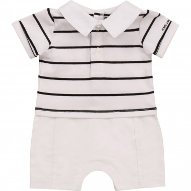 Dual-material 2-in-1 playsuit KARL LAGERFELD KIDS for BOY