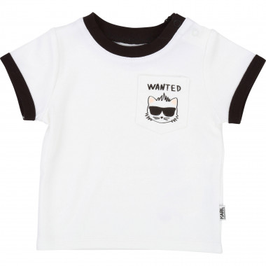 Cotton interlock T-shirt KARL LAGERFELD KIDS for UNISEX