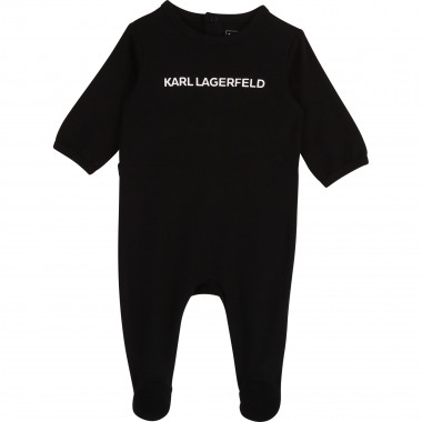 Cotton logo babygro KARL LAGERFELD KIDS for UNISEX