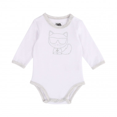 Long-sleeved printed babygro KARL LAGERFELD KIDS for UNISEX