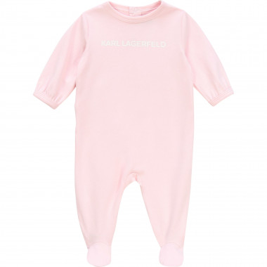 Footed pyjamas with logo KARL LAGERFELD KIDS for UNISEX