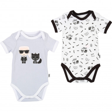 Set of 2 cotton onesies KARL LAGERFELD KIDS for BOY