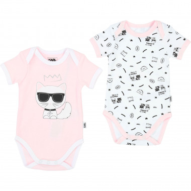 Set of 2 cotton onesies KARL LAGERFELD KIDS for UNISEX