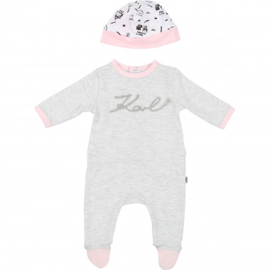 Interlock pyjamas and bonnet KARL LAGERFELD KIDS for UNISEX