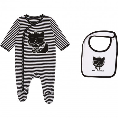 Babygro and bib set KARL LAGERFELD KIDS for UNISEX