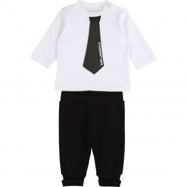 Two-piece cotton set KARL LAGERFELD KIDS for UNISEX