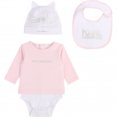 4-Piece cotton set KARL LAGERFELD KIDS for UNISEX