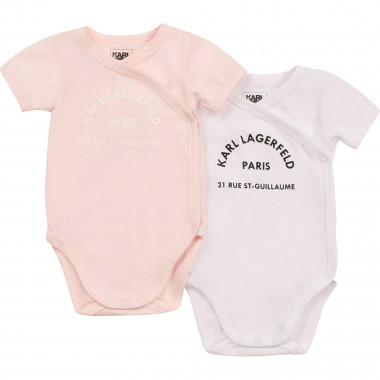 2-pack cotton jersey bodysuits KARL LAGERFELD KIDS for GIRL