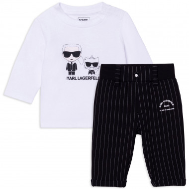 2-piece dual-fabric outfit KARL LAGERFELD KIDS for BOY