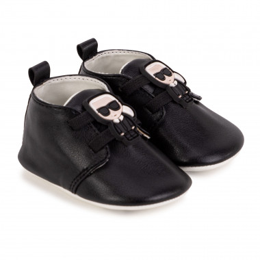 Faux-leather elasticated booties KARL LAGERFELD KIDS for UNISEX