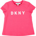 Cotton T-shirt with logo DKNY for GIRL