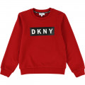 Cotton fleece logo sweatshirt DKNY for BOY