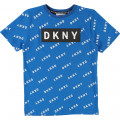 All-over printed logo T-shirt DKNY for BOY