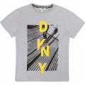 T-shirt with design and logo DKNY for BOY