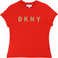 Stretch cotton T-shirt DKNY for GIRL