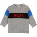 Tricot jumper with print logo BOSS for BOY