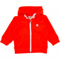 Zipped cardigan with hood TIMBERLAND for BOY
