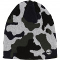 Camouflage-print knit hat TIMBERLAND for BOY