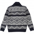 Novelty knitted cardigan TIMBERLAND for BOY