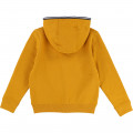 Suede fleece cardigan TIMBERLAND for BOY