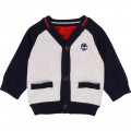 Reversible knit cardigan TIMBERLAND for BOY