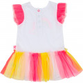 Ruffled tulle graphic dress BILLIEBLUSH for GIRL