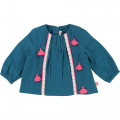 Blouse with braids and pompoms BILLIEBLUSH for GIRL