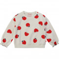 Printed fleece sweatshirt BILLIEBLUSH for GIRL