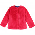 Fur jacket with heart detail BILLIEBLUSH for GIRL