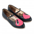 Leather Mary Janes with patch BILLIEBLUSH for GIRL