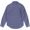 Striped cotton poplin shirt. BILLYBANDIT for BOY