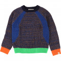 Knitted jumper in novelty stitches BILLYBANDIT for BOY