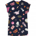 Fleece dress with print LITTLE MARC JACOBS for GIRL